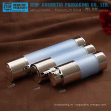 ZB-RB serie 15ml 30ml 50ml doble capa plástica color personalizable redondo botella bomba airless de giro rotatorio