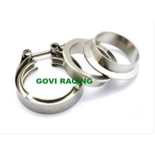 304 Stainless Steel V Band Clamps with Flanges for Exhaust Pipe