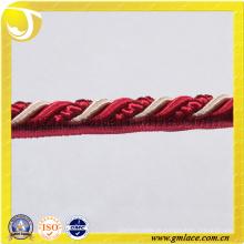 Rotes kundenspezifisches Seil für Kissen-Dekor-Sofa-Dekor-Wohnzimmer-Bett-Raum