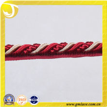 Rojo personalizado Cuerda para el cojín Decoración Sofá Decoración Salón Cama Habitación