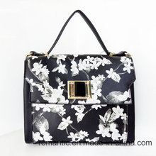 Brand Design Ladies PU Handbags Flower Printing Bag (LY060281)