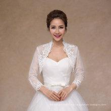 Свадебный платок Оптовая новый дизайн куртка венчания с кружевом аппликация край