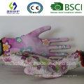 Gant de travail en coton en caoutchouc 13G (SL-G-PU2011)
