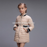 Long Style Slim Fit Baby Girls Shiny Cartoon Down Jacket For Promotion