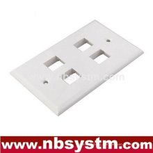 Face Plate 4 port, size:70x115mm