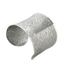 El acero inoxidable de la manera ahueca hacia fuera los brazaletes con el punto de plata, joyería de los brazaletes del du bai