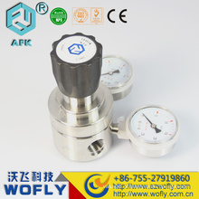 Reguladores de gás co2 de aço inoxidável regulador digital de pressão