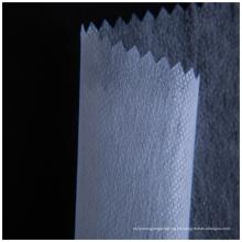 Interlineado soluble en agua fría para el bordado de respaldo.