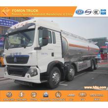 SINOTRUK 8X4 30000L Aluminium fuel tank truck