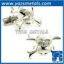Skull daddy cufflinks sterling silver engravable, customize cufflink