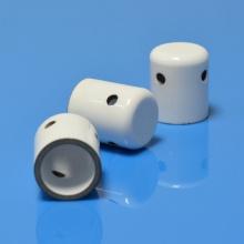 Tube en céramique métallisée à une extrémité et fermée à l'alumine