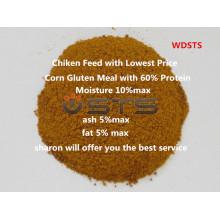 Farine de Gluten de maïs de haute qualité pour l'alimentation des poulets