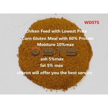 Farelo de glúten de milho de alta qualidade para a alimentação de galinha