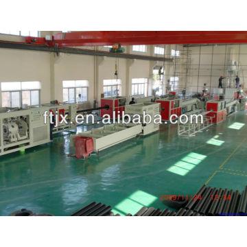 polietileno de alta densidad de doble pared corrugado línea de producción de tubos de plástico de la protuberancia