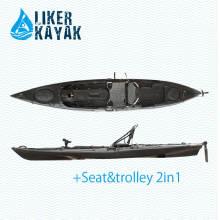 4,3 m de plástico Roto moldeo Kayak con Kayak Trolley y asiento para la opción
