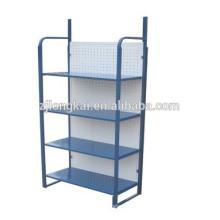 Metal floor stand OEM design good quality half moon shelf for display merchandise
