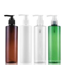 Beauty Packaging 250ml White Amber Green Body Lotion Bottle Plastic PET Shower Gel Shampoo Pump Bottles