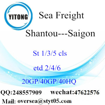 Shantou Port Sea Freight Shipping Para Saigon
