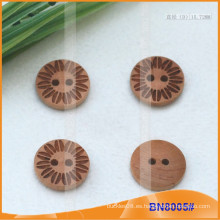 Botones de madera naturales para la prenda BN8005