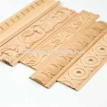 Molduras de madera maciza recortar molduras de madera decorativas