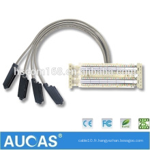 China Factory Price Telco Trunk Cable / Câble de communication Connecteur mâle / femelle pouvant être changé pour le fil de connexion de données téléphoniques