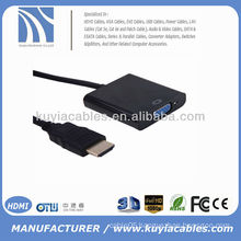 Black Mini HDMI VGA Converter Adapter 1080P for PC Laptop