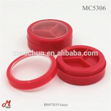 Empty round 3 three well/component eyeshadow palette case