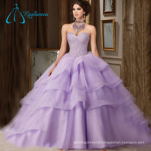 Sequined Beading Crystal Tiered Quinceanera Dresses Ball Gown