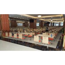 Conjunto de mesa de jantar moderna cantina escola para atacado (FOH-RTC01)