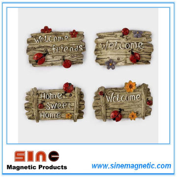 """Resin Creative Wall-Attached Letter """"Welcome"""" Fridge Magnet"""