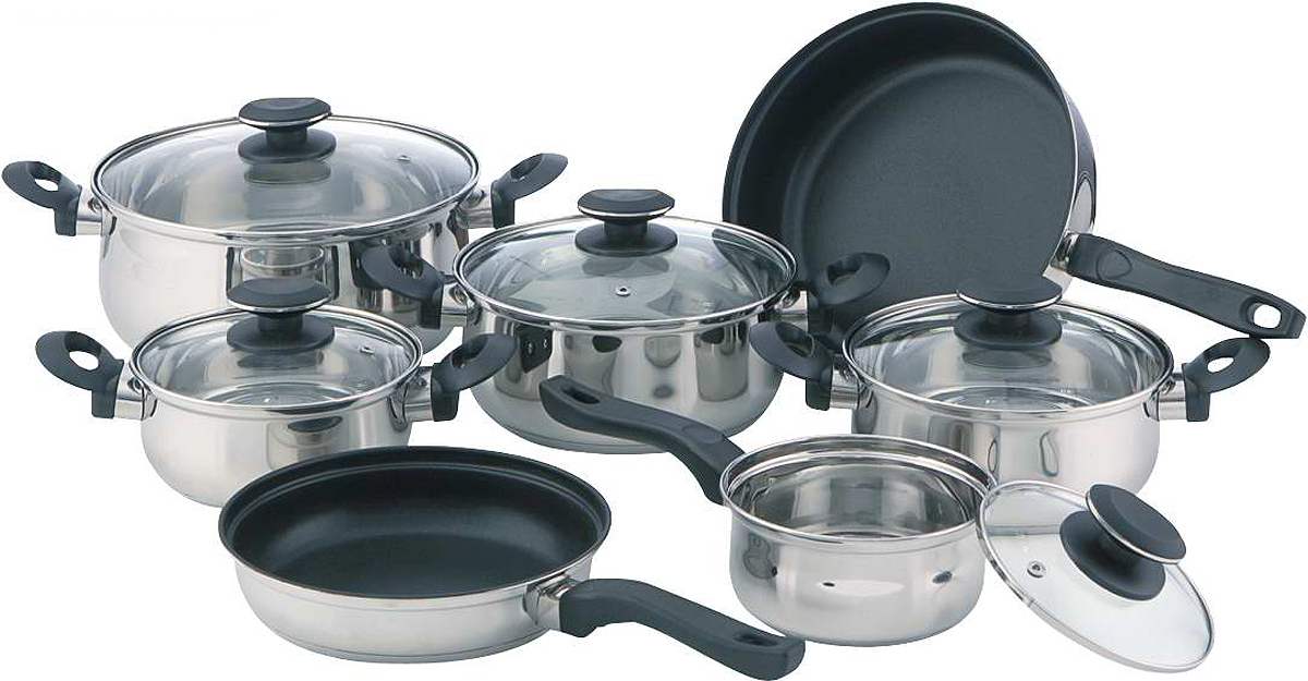 Special bakelite handle 12pcs cookware set