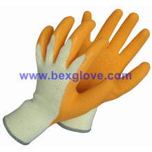 10 Gauge Polyester Liner, Latex Coated, Crinkle Finish Glove