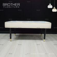 Luxe design classique chinois fournisseur bancs en bois tissu antique