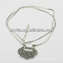 Wholesale antique silver jewelry 925 sterling silver necklace for boy