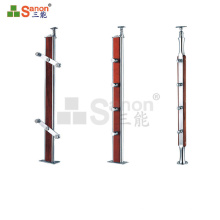 Clear acrylic balustrade stainless steel baluster for stairs interior stair baluster