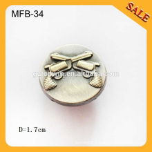 MFB34 chemise personnalisée occidentale en cuir antique en laiton chemise en mousseline de soie touche 17mm