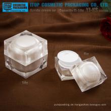 YJ-KS Serie 15g 30g 50g kubische Quadrat Acryl kosmetische Creme Glas