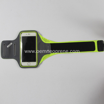 Exercise use lycra armband phone case with reflective