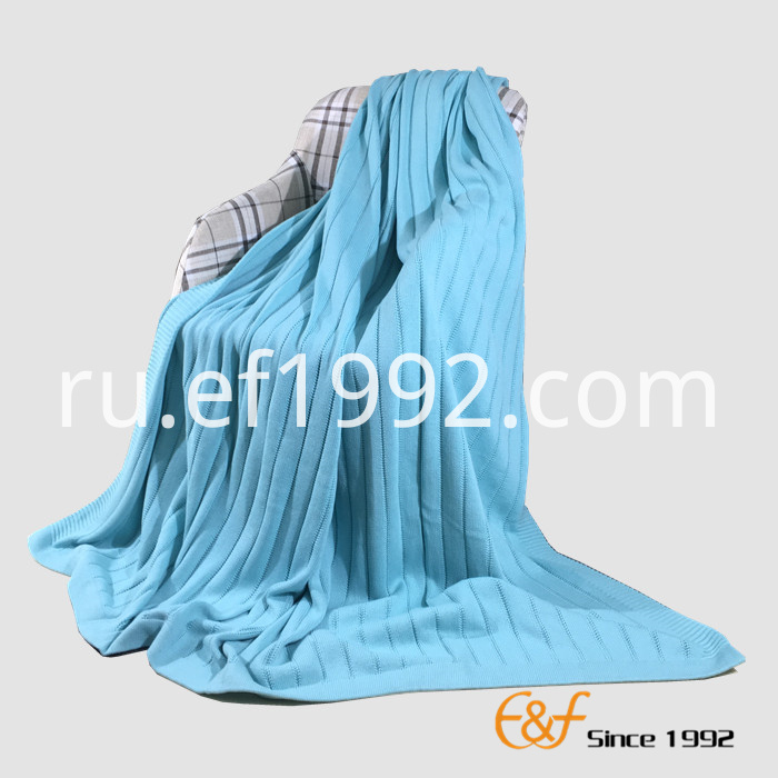 rib structure knitted blanket