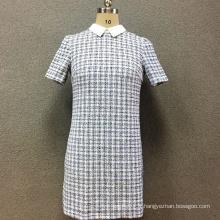 Robe pour femmes teinte en fils de polyester