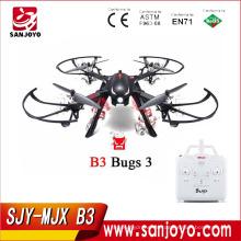 Venta caliente MJX Bugs 3 rojo / negro color con motor sin escobillas independiente ESC Drone tiempo de vuelo largo puede soportar cámara Wifi SJY-B3