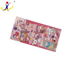 Venta caliente caliente de alta calidad hoja de etiqueta de encargo, etiqueta de la pared para niños