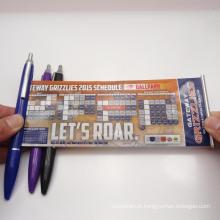 Promocionais publicidade Banner caneta, retire do calendário bandeira caneta (XL-9116)