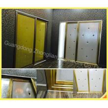 Cadre en aluminium adapté aux besoins du client de porte de garde-robe pour la fabrication de garde-robe