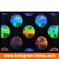 Kundenspezifisches Anti-Fake PVC-transparentes Identifikations-Karten-Überlagerungs-Hologramm
