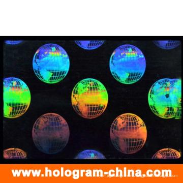 3D лазерное прозрачный идентификатор безопасности голограмма наложения