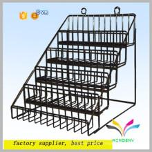 Novo design personalizado robusto funcional portátil piso de metal fio produto exibir stands