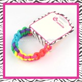 fashion polyester weaved bracelet