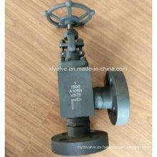 1500lb tipo de ángulo de acero forjado, brida, conexión, extremo, válvula de globo