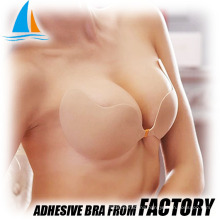 Adhesive invisible push up underwire sports bra
